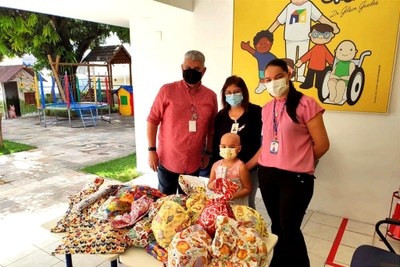 Após doações ao Centro de Referência de Educação Infantil Criança Feliz, de João Pessoa, foi a vez dessa outra instituição ser beneficiada