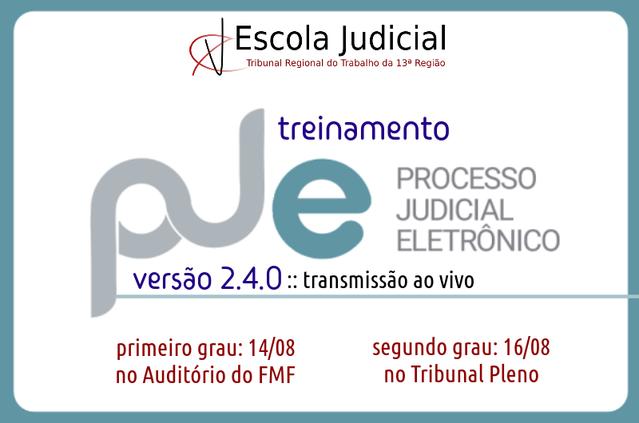Treinamento - PJE 2.4.0